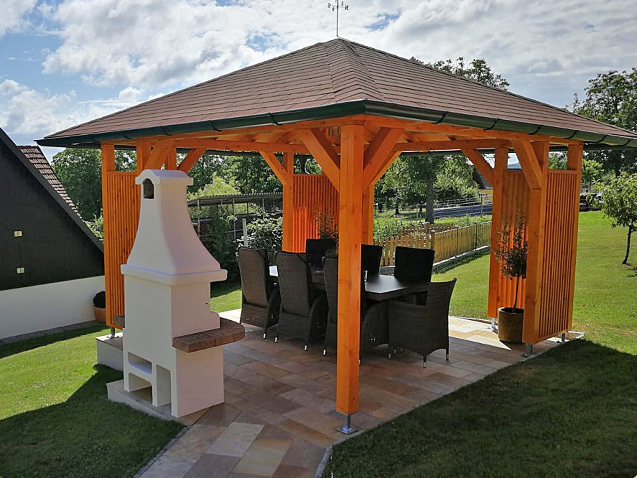 Pavillon Gartenpavillon Gartenhaus Holzhaus Geratehutte